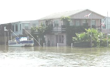 Water side of Fred & Tammi's house on Bayou Vista Dr.