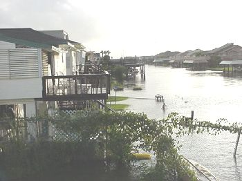 Looking down Tarpon canal from upper deck